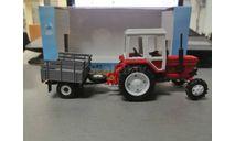 трактор МТЗ-82 с прицепом с/х, масштабная модель трактора, мир отечественных моделей, scale43