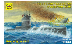 немецкая подводная лодка тип 23, сборные модели кораблей, флота, Моделист, 1:144, 1/144