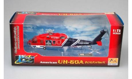 AMERICAN UH-60A BLACKHAWK, масштабные модели авиации, ВЕРТОЛЕТ, Easy Model, 1:72, 1/72