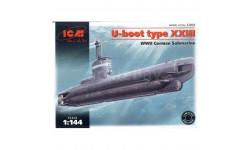 U-BOOT TYPE 23, сборные модели кораблей, флота, подводная лодка, ICM, 1:144, 1/144