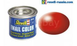 эмаль светящаяся красная шелковая матовая, фототравление, декали, краски, материалы, REVELL, scale0, краска