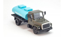 горький -3307 цистерна живая рыба, масштабная модель, ГАЗ, Компаньон, 1:43, 1/43