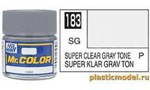 супер прозрачный с серым оттенком полуматовый эмаль, фототравление, декали, краски, материалы, краска, AQUEOUS HOBBY COLOR
