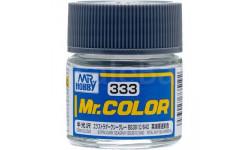 С 333 краска эмалевая очень темный морской серый полуматовый, фототравление, декали, краски, материалы, MR.HOBBY