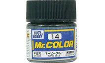 С 14 краска эмалевая военно-морской синий полуматовый, фототравление, декали, краски, материалы, MR.HOBBY, scale0