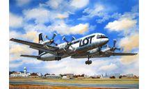 пассажирский самолет ИЛ-18 экспорт, сборные модели авиации, Ильюшин, Восточный Экспресс, 1:144, 1/144