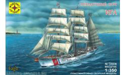 трехмачтовый барк игл, сборные модели кораблей, флота, корабль, Моделист
