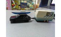ВАЗ 2108 с лодкой и прицепом. конверсия прицепа, масштабная модель, Компаньон, 1:43, 1/43