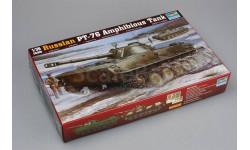 RUSSIAN PT-76 AMPHIBIOUS TANK, сборные модели бронетехники, танков, бтт, Trumpeter, 1:35, 1/35