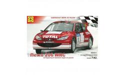 пежо 206 WRC, сборная модель автомобиля, Peugeot, Моделист, 1:43, 1/43