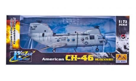 AMERICAN CH-46 SEAKNIGHT, масштабные модели авиации, ВЕРТОЛЕТ, Easy Model, 1:72, 1/72