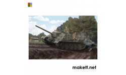 SOVIET SU-100 TANK DESTROYER, сборные модели бронетехники, танков, бтт, Trumpeter, scale16, БРОНЕТЕХНИКА