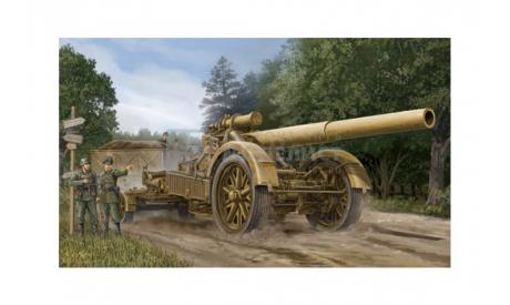 GERMAN 21CM MORSER 18, сборные модели артиллерии, АРТИЛЕРИЯ, Trumpeter, 1:35, 1/35