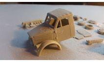 кит надстройка кабина ранняя деревянная ГАЗ-51 комплект, сборная модель автомобиля, 1:43, 1/43