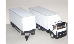 МАЗ 6303 фургон + прицеп, масштабная модель, 1:43, 1/43, Nik Models
