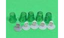 Проблесковый маячок мигалка стакан FER DDR зеленый со вставкой, запчасти для масштабных моделей, Max-Models, scale43