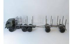 Сборная модель (трансКИТ) лесовоза на базе КАМАЗ-4310 с прицепом, запчасти для масштабных моделей, Max-Models, scale43