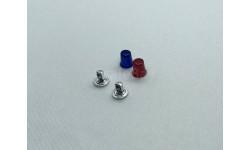 Комплект из 2 проблесковых маяков FER DDR синий и красный 1/24, фототравление, декали, краски, материалы, Max-Models, scale24