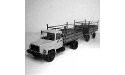 Сборная модель автопоезд ГАЗ-6008 Сельхозник