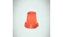 Проблесковый маячок мигалка стакан FER DDR оранжевый цельнолитой, запчасти для масштабных моделей, Max-Models, scale43