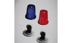 Мигалки стаканы FER DDR mix синие/красные со вставкой (Новинка!!!)