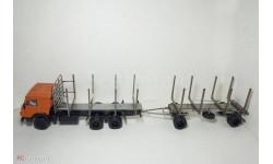 Сборная модель (трансКИТ) автопоезд сортиментовоз на шасси КАМАЗ-53212, запчасти для масштабных моделей, Max-Models, 1:43, 1/43