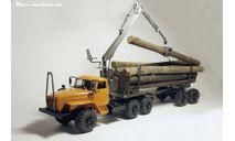 Сборная модель надстройка лесовозная для УРАЛ-44202-0311 с КМУ и прицепом ТМЗ-803, сборная модель автомобиля, Max-Models, scale43