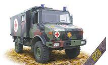 Unimog U1300L 4x4 КУНГ медицинский/командный, сборная модель автомобиля, ACE, scale72
