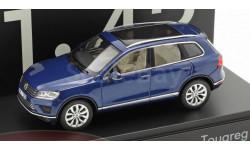 Volkswagen Touareg (blue metallic), масштабная модель, Herpa, scale43