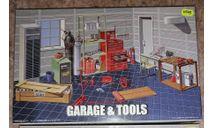 Сборная диорама 1/24 гараж с инструментами (Fujimi Garage & Tools  116358 ), сборная модель (другое), scale24