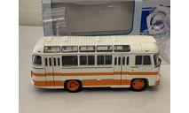 ПАЗ-672М бело-оранжевый 1:43 Советский автобус, масштабная модель, scale43