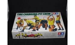TIRE CHANGING PIT CREW, 1/20, Tamia, миниатюры, фигуры, Tamiya