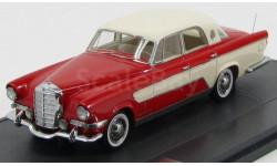 Mercedes-Benz Ghia 300C Berlina (короля Саудовской Аравии) 1956 Red/White Matrix, масштабная модель, scale43