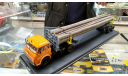Лесовоз МАЗ 502 с о-очень длинными дровами в боксе SSM (авторская работа), масштабная модель, Авторская работа на базе НАП  и MAXmodels, 1:43, 1/43
