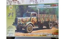 Немецкий тяжелый грузовик L -4500 A, сборная модель автомобиля, scale35, Звезда