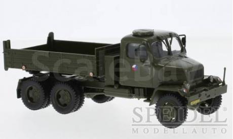 Praga V3S flatbed platform trailer, Czech army, масштабная модель, Abrex, scale43