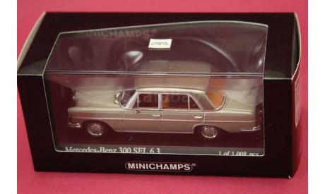 Mercedes Benz 300 SEL 6.3, масштабная модель, Mercedes-Benz, Minichamps, 1:43, 1/43