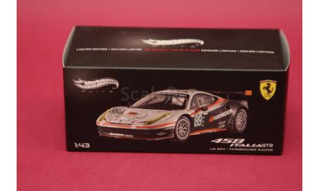Ferrari 458 Italia GT2 #89, масштабная модель, Hot Wheels Elite, 1:43, 1/43