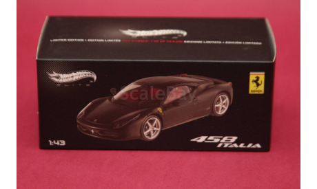 Ferrari 458, масштабная модель, Hot Wheels Elite, 1:43, 1/43
