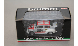 FIAT 600 1000 ABARTH #384 PREPARATA SPAGNOL, масштабная модель, Brumm, 1:43, 1/43