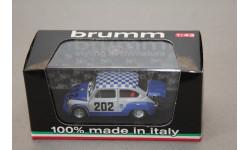 FIAT 600 1000 ABARTH #202 SCUDERIA TRICOLORE, масштабная модель, Brumm, 1:43, 1/43
