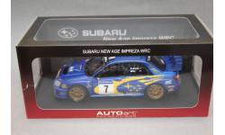 SUBARU New Age IMPREZA WRC #7 RALLY  France 2003, редкая масштабная модель, Autoart, 1:18, 1/18