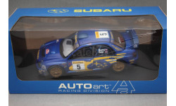 SUBARU IMPREZA WRC #5 RALLY MONTE CARLO 2001, редкая масштабная модель, Autoart, 1:18, 1/18
