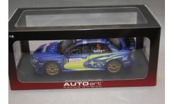 SUBARU IMPREZA WRC #5 RALLY MONTE CARLO 2006, редкая масштабная модель, Autoart, 1:18, 1/18