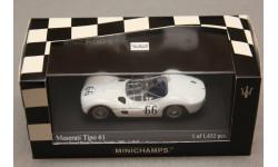 Maserati Tipo 61 Nassau #66 Trophy 1960, редкая масштабная модель, Minichamps, 1:43, 1/43
