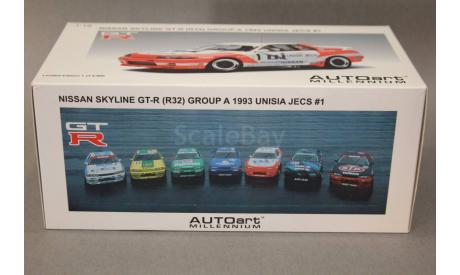 Nissan Skyline GT-R (R32), масштабная модель, Autoart, scale18