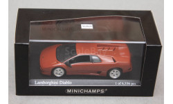Lamborghini Diablo, редкая масштабная модель, Minichamps, scale43