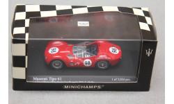 Maserati Tipo 61 LA Times GP for Sports cars Riverside  #98 1960, масштабная модель, Minichamps, 1:43, 1/43