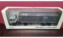 МАЗ-5432 с полуприцепом МАЗ-93971, масштабная модель, Автоистория (АИСТ), scale43