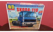 Skoda-110, сборная модель автомобиля, Škoda, AVD Models, scale43